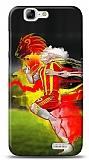 Dafoni Huawei Ascend G7 Sarı Kırmızı Kılıf