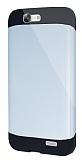 Dafoni Huawei Ascend G7 Slim Power Ultra Koruma Silver Kılıf