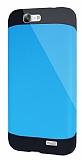 Dafoni Huawei Ascend G7 Slim Power Ultra Koruma Mavi Kılıf