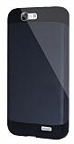 Dafoni Huawei Ascend G7 Slim Power Ultra Koruma Siyah Kılıf