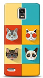 Dafoni Huawei Ascend P1 Four Cats K�l�f