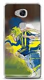 Dafoni Huawei GR5 Sarı Lacivert Kılıf
