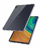 Dafoni Huawei MatePad 10.4 Ultra Koruma Silikon Kenarlı Şeffaf Kılıf