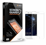 Dafoni Huawei P10 Tempered Glass Premium Full Beyaz Cam Ekran Koruyucu