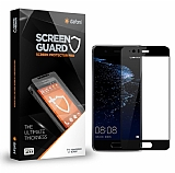 Dafoni Huawei P10 Plus Tempered Glass Premium Full Siyah Cam Ekran Koruyucu