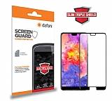 Dafoni Huawei P20 Slim Triple Shield Siyah Ekran Koruyucu