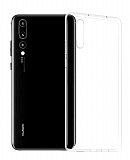 Dafoni Huawei P20 Pro Ultra İnce Şeffaf Silikon Kılıf