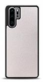 Dafoni Huawei P30 Pro Silikon Kenarlı Simli Beyaz Kılıf