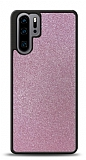 Dafoni Huawei P30 Pro Silikon Kenarlı Simli Pembe Kılıf