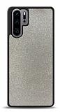 Dafoni Huawei P30 Pro Silikon Kenarlı Simli Silver Kılıf