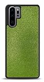 Dafoni Huawei P30 Pro Silikon Kenarlı Simli Yeşil Kılıf