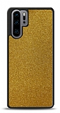 Dafoni Huawei P30 Pro Silikon Kenarlı Simli Gold Kılıf