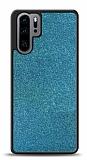 Dafoni Huawei P30 Pro Silikon Kenarlı Simli Mavi Kılıf