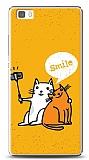 Huawei P8 Lite Selfie Cat Kılıf