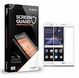 Dafoni Huawei P9 Lite 2017 Tempered Glass Premium Full Beyaz Cam Ekran Koruyucu