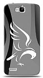 Huawei Y6 ii Siyah Beyaz Kartal Kılıf