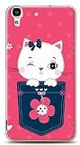 Huawei Y6 Pink Cat Kılıf