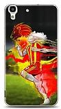 Huawei Y6 Sarı Kırmızı Kılıf