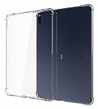Dafoni Hummer Huawei MatePad Pro 10.8 Ultra Koruma Silikon Kenarlı Şeffaf Kılıf