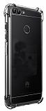 Dafoni Hummer Huawei P Smart Ultra Koruma Silikon Kenarlı Şeffaf Kılıf