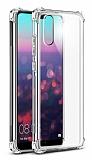 Dafoni Hummer Huawei P20 Pro Ultra Koruma Silikon Kenarlı Şeffaf Kılıf