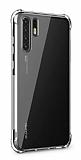 Dafoni Hummer Huawei P30 Pro Ultra Koruma Silikon Kenarlı Şeffaf Kılıf