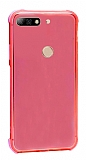 Dafoni Hummer Huawei Y7 2018 Ultra Koruma Silikon Kenarlı Kırmızı Kılıf