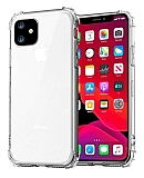 Dafoni Hummer iPhone 12 Mini 5.4 inç Ultra Koruma Silikon Kenarlı Şeffaf Kılıf