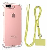 Dafoni Hummer iPhone 7 Plus / 8 Plus Sarı Askılı Ultra Koruma Kılıf
