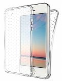 Dafoni Hummer iPhone SE / 5 / 5S Ultra Koruma Silikon Kenarlı Şeffaf Kılıf