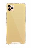 Dafoni Hummer Mirror iPhone 11 Pro Aynalı Gold Silikon Kılıf