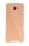 Dafoni Hummer Mirror Samsung Galaxy J7 Prime Aynalı Rose Gold Silikon Kılıf
