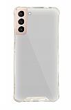Dafoni Hummer Mirror Samsung Galaxy S21 Aynalı Silver Silikon Kılıf