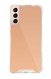 Dafoni Hummer Mirror Samsung Galaxy S21 Aynalı Rose Gold Silikon Kılıf
