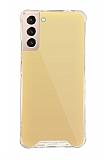 Dafoni Hummer Mirror Samsung Galaxy S21 Aynalı Gold Silikon Kılıf