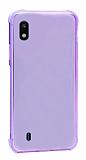 Dafoni Hummer Samsung Galaxy A10 Ultra Koruma Silikon Kenarlı Mor Kılıf