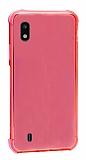 Dafoni Hummer Samsung Galaxy A10 Ultra Koruma Silikon Kenarlı Kırmızı Kılıf