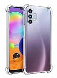 Dafoni Hummer Samsung Galaxy A32 5G Ultra Koruma Silikon Kenarlı Şeffaf Kılıf