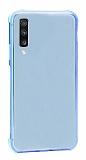 Dafoni Hummer Samsung Galaxy A7 2018 Ultra Koruma Silikon Kenarlı Mavi Kılıf
