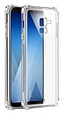 Dafoni Hummer Samsung Galaxy A8 2018 Ultra Koruma Silikon Kenarlı Şeffaf Kılıf