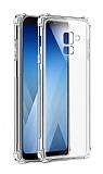 Dafoni Hummer Samsung Galaxy A8 Plus 2018 Ultra Koruma Silikon Kenarlı Şeffaf Kılıf
