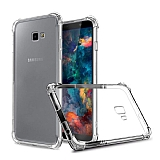 Dafoni Hummer Samsung Galaxy J4 Plus Ultra Koruma Silikon Kenarlı Şeffaf Kılıf
