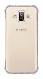 Dafoni Hummer Samsung Galaxy J7 Duo Ultra Koruma Silikon Kenarlı Şeffaf Kılıf