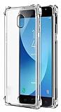 Dafoni Hummer Samsung Galaxy J7 Pro 2017 Ultra Koruma Silikon Kenarlı Şeffaf Kılıf