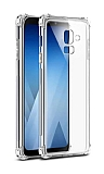 Dafoni Hummer Samsung Galaxy J8 Ultra Koruma Silikon Kenarlı Şeffaf Kılıf