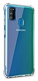 Dafoni Hummer Samsung Galaxy M30S Ultra Koruma Silikon Kenarlı Şeffaf Kılıf