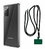 Dafoni Hummer Samsung Galaxy Note 20 Yeşil Askılı Ultra Koruma Kılıf