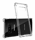Dafoni Hummer Samsung Galaxy Note 8 Ultra Koruma Silikon Kenarlı Şeffaf Kılıf