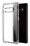 Dafoni Hummer Samsung Galaxy S10 Ultra Koruma Silikon Kenarlı Şeffaf Kılıf