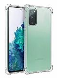 Dafoni Hummer Samsung Galaxy S20 FE Ultra Koruma Silikon Kenarlı Şeffaf Kılıf